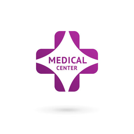 medical sign: Medical center  icon design template with cross and plus. Vector sign.