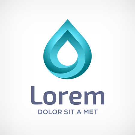 Water drop symbol  design template icon. May be used in ecological, medical, chemical, food and oil design. Vector