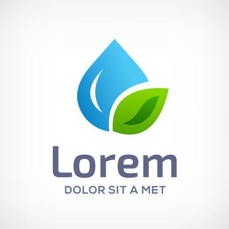 Waterdruppel symbool design template icoon. Kan worden gebruikt in ecologische, medische, chemische, voedsel en olie ontwerp.