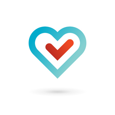 Heart symbol icon. May be used in medical, dating, Valentines Day and wedding design. Vector