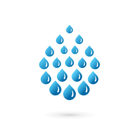 bottled: Water drop symbol logo icon design template. May be used in ecological, medical, chemical, food and oil design.