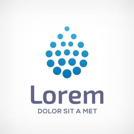 Wassertropfen-Symbol-Logo Icon Design-Vorlage. Kann in ökologische, medizinische, chemische, Lebensmittel-und Öl Design verwendet werden. Standard-Bild - 32592232