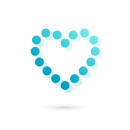 Heart symbol logo icon design template. Vector sign. May be used in medical, dating, Valentines Day and wedding design. Vector