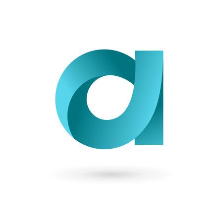 手紙 A ロゴ アイコン デザイン テンプレートの要素です。ベクトル色記号。