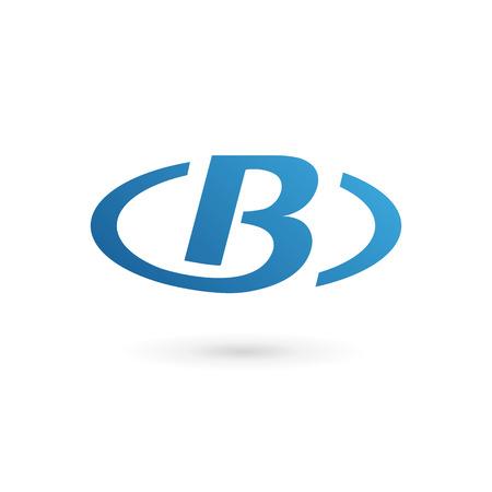 carta: Letra B logo icono elementos de plantilla de diseño. Vector signo de color.