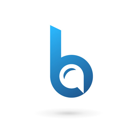 Letter B speech bubble logo icon design template elements. Vector color sign.