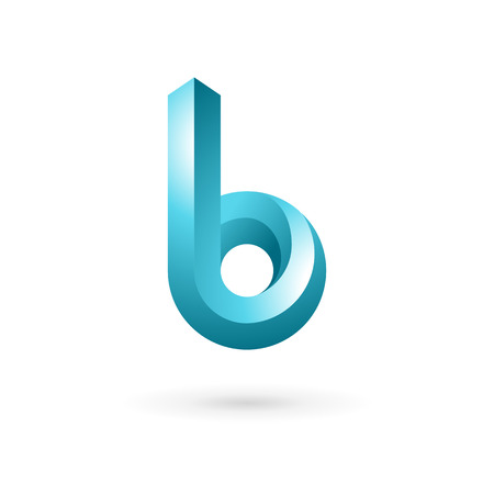 Letter B logo icon design template elements. Vector color sign. Vector