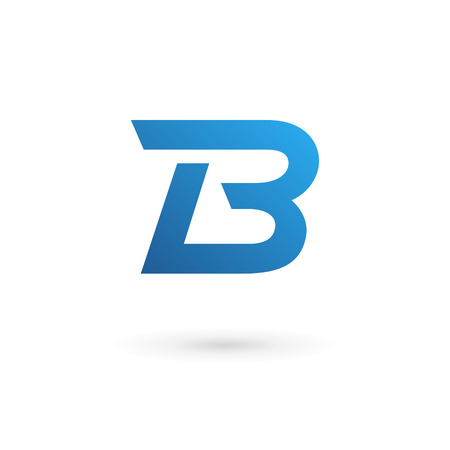 Letter B logo icon design template elements Illusztráció