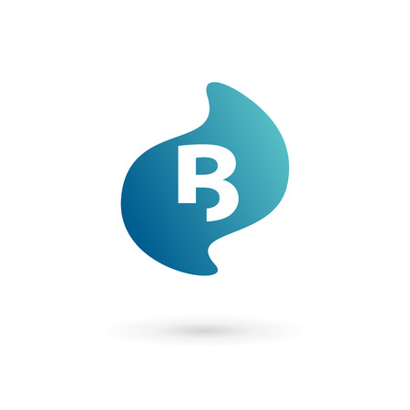 Letter B logo icon design template elements Illustration