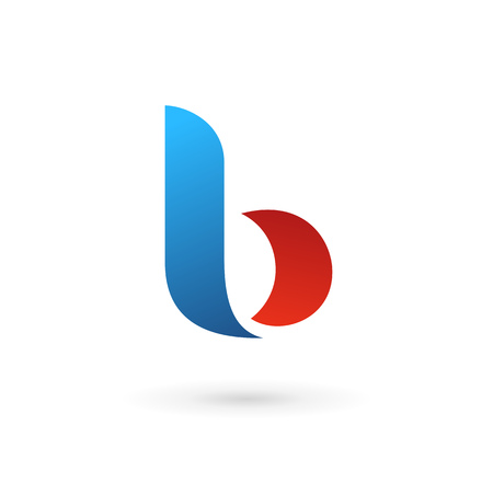 letter b: Letter b logo icon design template elements