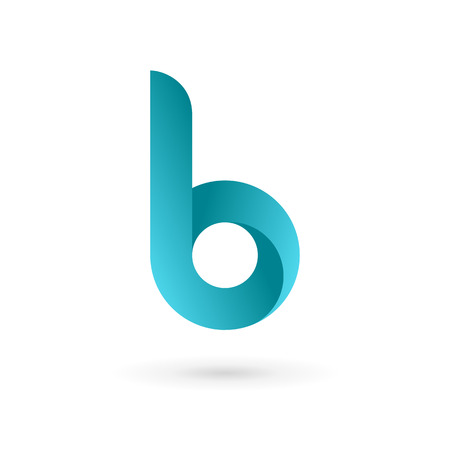 b: Letter B logo icon design template elements. Vector color sign.