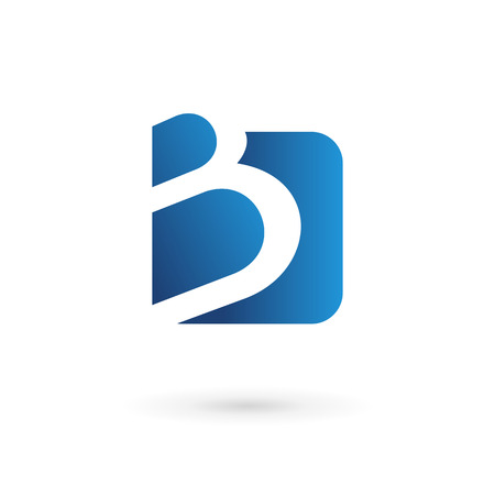 logo  vector: Letter B logo icon design template elements. Vector color sign.