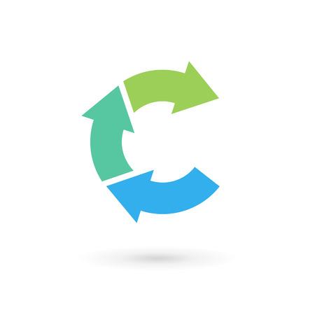Letter C arrow logo icon design template elements. Vector color sign.
