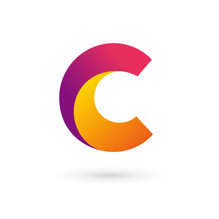 Letter C logo icon design template elements. Vector color sign.
