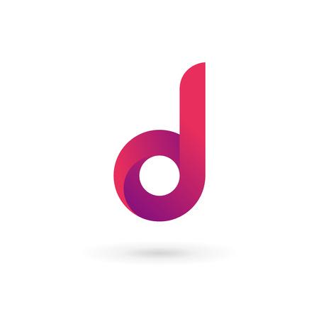 d: Letter D logo icon design template elements. Vector color sign.