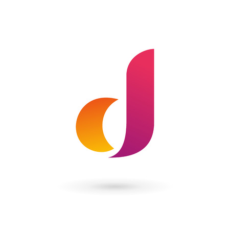 d: Letter d logo icon design template elements Illustration