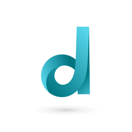 Letter D logo icon design template elements. Vector color sign.