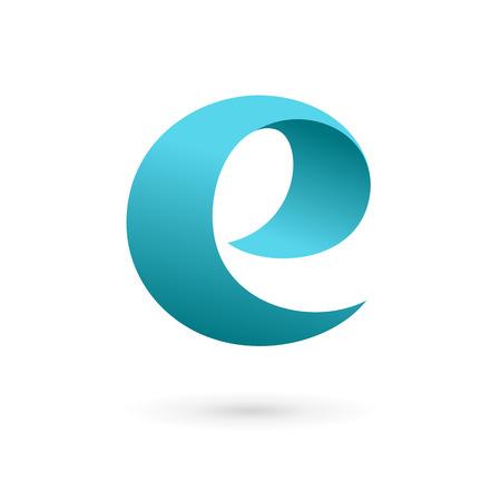 Letter E logo icon design template elements. Vector color sign.