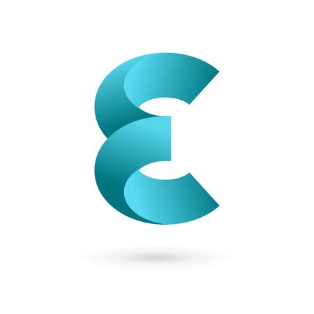 dise�os: Letra E logo icono elementos de plantilla de dise�o. Vector signo de color.