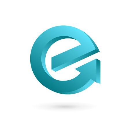 Lettre E flèche icônes, logos éléments du modèle de conception. Vecteur couleur signe.
