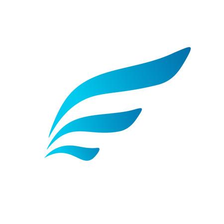 Letter E vleugel vlag logo pictogram ontwerp sjabloon elementen. Vector kleur teken. Stock Illustratie