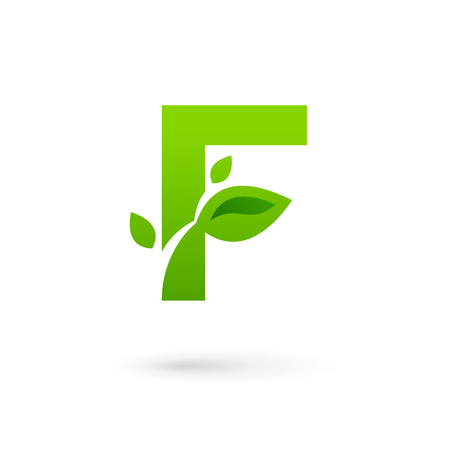 Letter F eco leaves logo icon design template elements d02a93962d9f