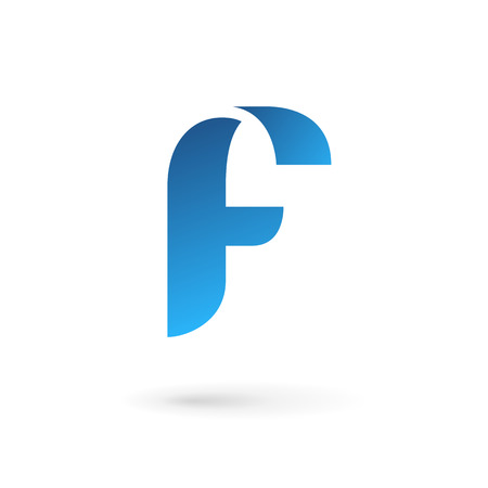 glossy icon: Letter F logo icon design template elements