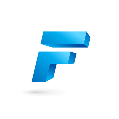 letter f: Letter F logo icon design template elements. Vector color sign. Illustration
