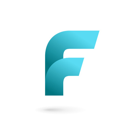 Letter F logo icon design template elements. Vector color sign. Çizim