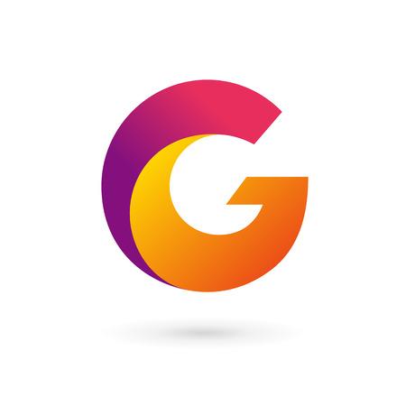 letter g: Letter G logo icon design template elements. Vector color sign.