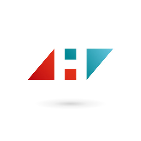 sign h: Letter H logo icon design template elements. Vector color sign.