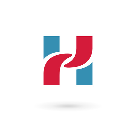 letter h: Letter H logo icon design template elements. Vector color sign.