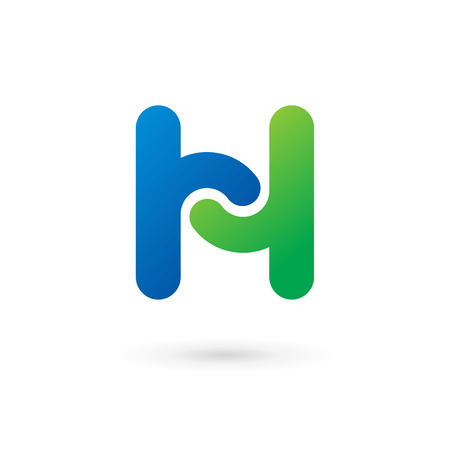 Letter H logo icon design template elements. Vector color sign. Vector