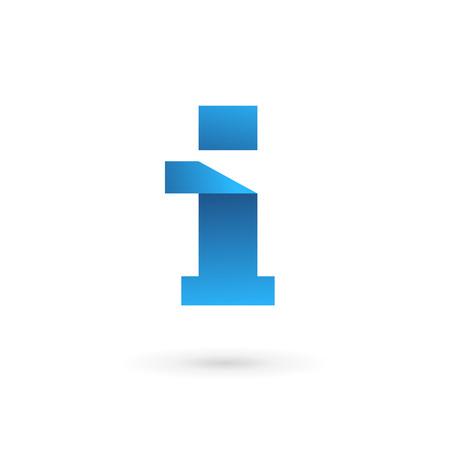 elementos: Letra I logo icono elementos de plantilla de dise�o. Vector signo de color.
