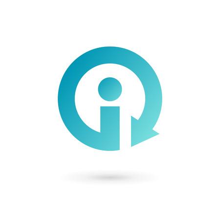Letter I arrow logo icon design template elements. Vector color sign.