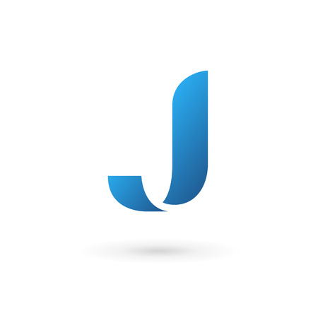 Letter J logo icon design template elements