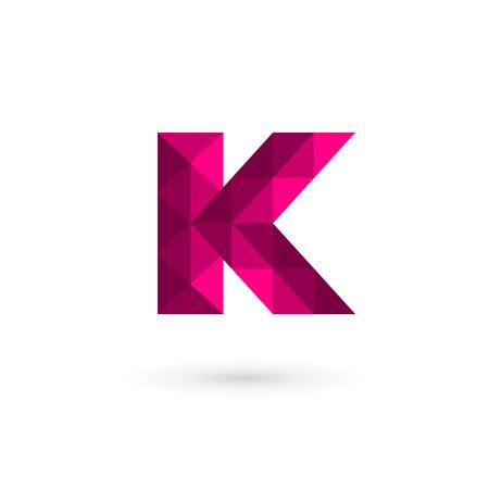 letter k: Mosaic letter K logo icon design template elements. Vector color sign.