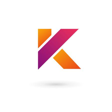 Letter K logo icon design template elements. Vector color sign. Vector