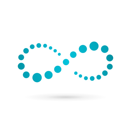 シンボル: 無限ループ シンボル ロゴ アイコン デザイン テンプレートです。ベクトル色エンブレム記号。
