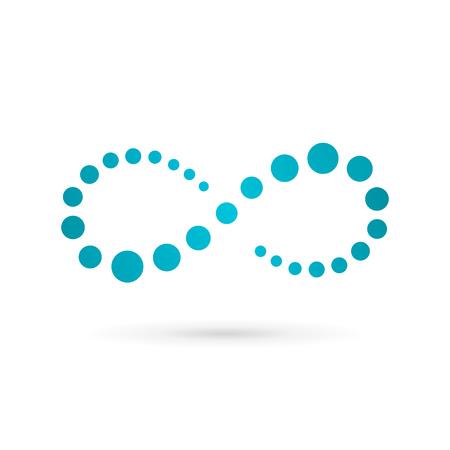 infinito simbolo: Bucle infinito símbolo insignia de la plantilla icono del diseño. Vector de color signo emblema.