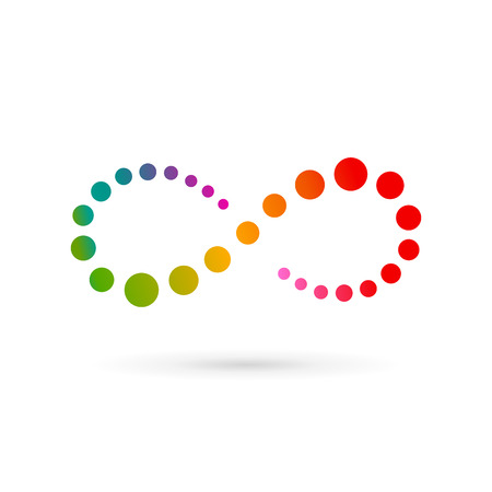 pętla: Nieskończoność pętli symbol szablon logo ikony projektowania. Wektor kolor godło znak.