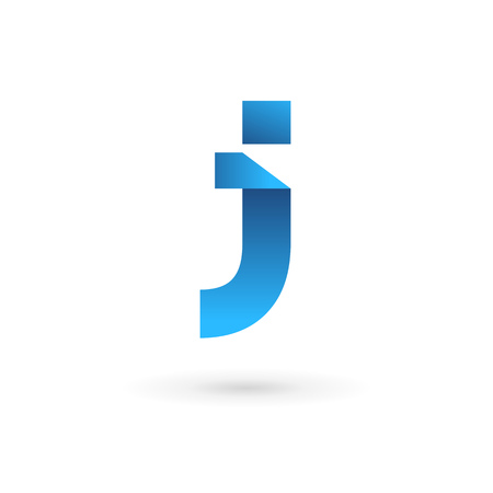 Letter J logo icon design template elements. Vector color sign.