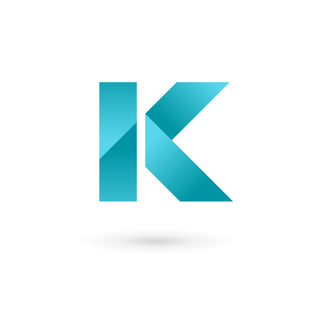 logo letter: Letter K logo icon design template elements. Vector color sign.