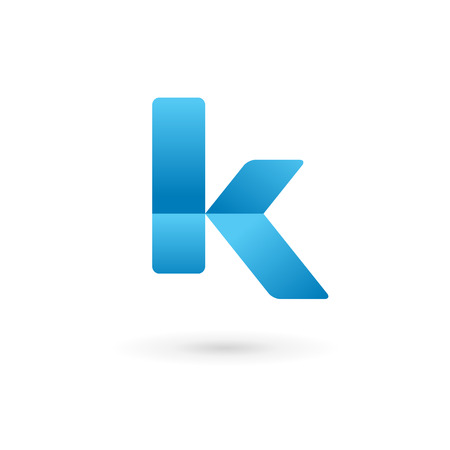 letter k: Letter K logo icon design template elements. Vector color sign.