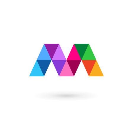 Letter M mosaic logo icon design template elements Vettoriali