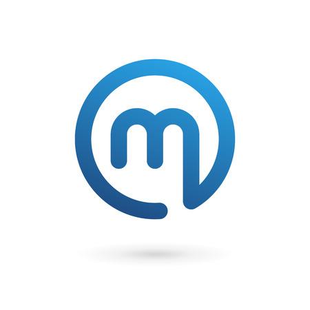 문자 M 로고 아이콘 디자인 서식 파일 요소