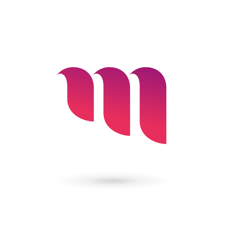 手紙 M ロゴ アイコンのデザイン テンプレートの要素