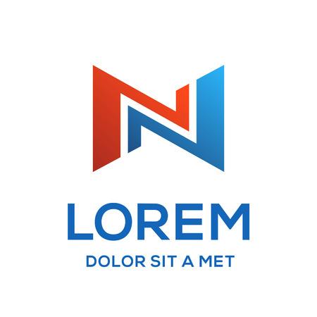 N: Letter N logo icon design template elements Illustration