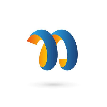 letter n: Letter N logo icon design template elements Illustration