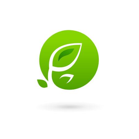 cocao: Letter O eco leaves logo icon design template elements